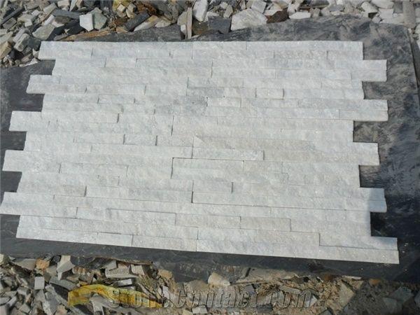 Wellest Shinning White Quartzite Culture Stone Ledge