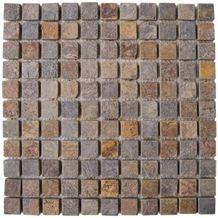 Wellest Slate Mosaic,Rusty Slate Mosaic,Multi Colour Slate Mosaic,Model No.Ssm001