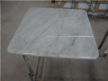 Wellest Statuario White Marble Bar Top, Restaurant Top,Kitchen Top,Square Top, Sqaure Table,Natrual Stone