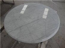 Wellest Statuario White Marble Table Top, Restaurant Top,Round Top, Round Table,Natrual Stone