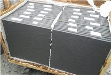 Wellest Sy162 Black Sandstone Flooring Tile, Rough Finish,China Black Sandstone,Natural Stone