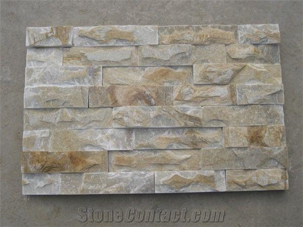 Wellest Yellow Wood Slate Flat Culture Stone Ledge Stone