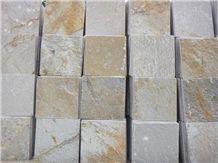 Wellest Yeloow Wood Slate Natural Finish Floor Tile,China Beige Colour Slate,St-014n