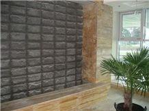 Black Gabbro Facing Stone Antik Nero Facing Tiles, Gabbro Antik Nero Black Granite Building & Walling