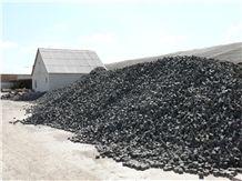 Black Granite Cubestone, Cubes, Cobbles, Pavers, Paving Stone, Gabbro Antik Nero Black Granite Paving Stone