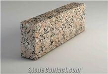 Curb Stone, Kerstone Ukrainian Red Granite Rosso Santiago