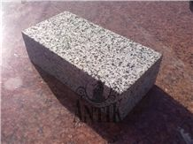 Grey Granite Cube Stones Top Flamed Machine Cut