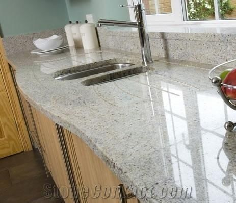 Kashmir White Granite Kitchen Countertop India White Granite From