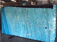 Aquamarine Crystal Onyx Slabs & Tiles, Crystal Acquamarine Blue Onyx