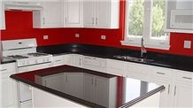 Giga Black Galaxy Granite Popular Colors Kitchen Countertops