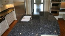 Giga Nature Stone Polishing Work Tops Blue Granite Countertops Slabs & Tiles
