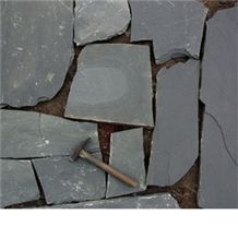 Black Random Slate Product Cheapest Natural Stone Paving Stone