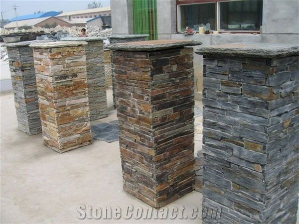 Slate Culture Stone Gate Post From China Stonecontact Com