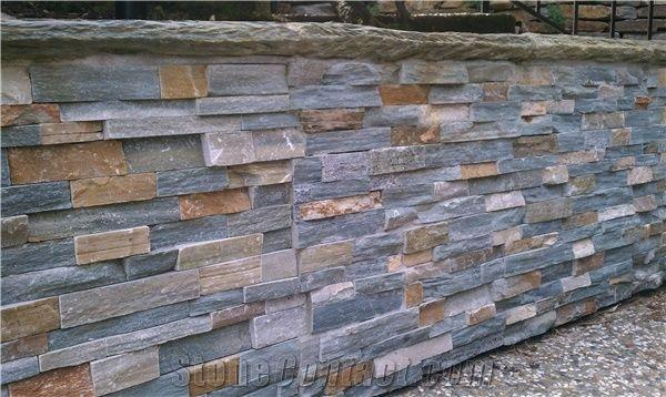 Veneer Wall Dry Blue Stack Stone Culture Stone Blue Slate