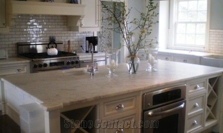 Bianco Carrara a Marble Kitchen Top from United States ...