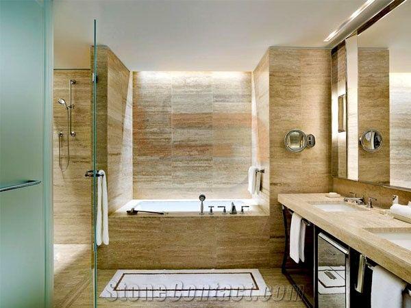 Kutahya Beige Travertine Bathroom Design From Kazakhstan Stonecontact Com