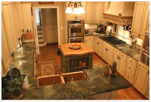Verde Fantastico Quartzite Kitchen Countertop From United