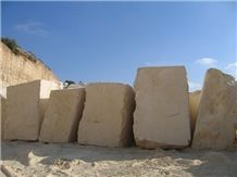 Palestinian Light Cream Limestone Blocks, Palestine Beige Limestone