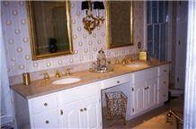 Botticino Classico Beige Marble Bathroom Vanity Tops