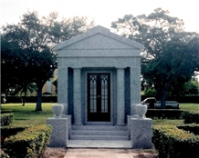 Granite for Mausoleums,White - Grey Granite Mausoleums
