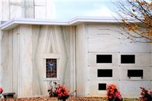 Eureka Calacatta Danby White Marble Mausoleum & Columbarium