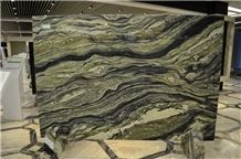 Grace Green Slabs & Tiles, Green Wood Jade Marble Tiles