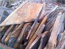Piedra Laja Negra Oxidada Irregular Flagstone