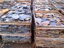 Piedra Laja Negra Y Negra Oxidada Chica Flagstone, Piedra Laja Negra Slate Flagstone