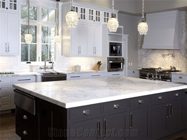 arabescato sea marble kitchen countertopmarble island top