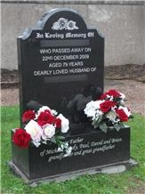 Polished Caithness Siltstone Memorial Tombstones