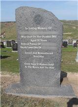 Riven Caithness Stone Memorial, Grave Stone