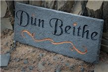 Riven Caithness Stone Name Tag