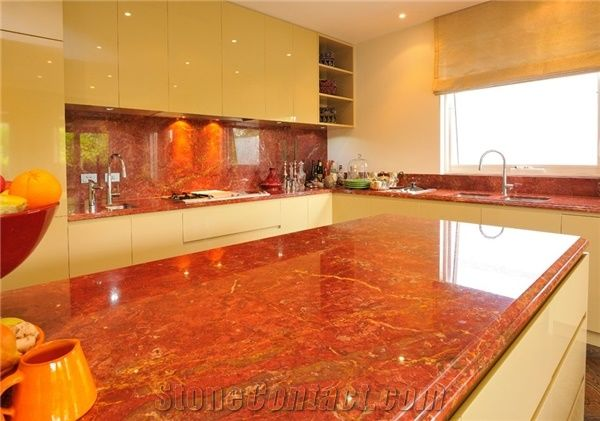 Red Marble Countertop Private Residence   Toorak 8, Rosso Impero Red Marble  Countertops