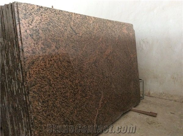Pink Stone Slabs : Tiger skin granite india pink slabs tiles