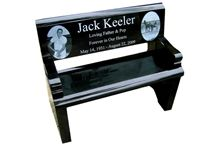 Jk30 Hebei Black Granite Bench with Backrest, Black Granite Monument & Tombstone