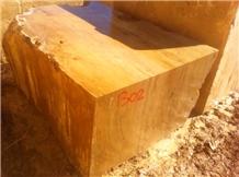 Golden Travertine Blocks