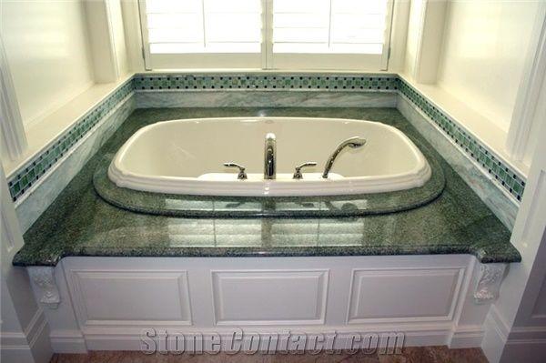 Coast Green Granite Bath Tub Surround Tub Deck From