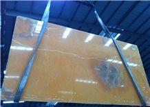 Orange Onyx Tiles & Slabs, Pakistan Yellow Onyx