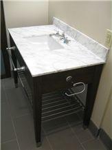 Carrara White Bath Tops,Wood Vanity Base