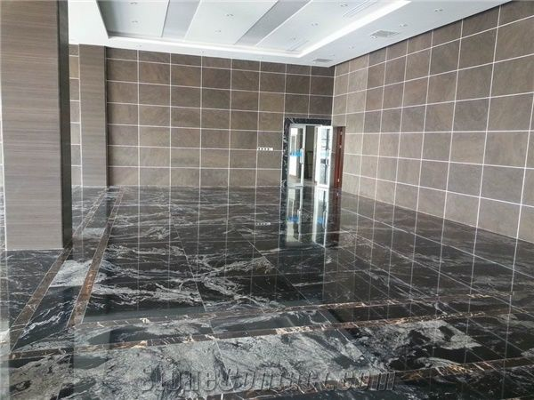 China Anium Black Granite Floor Tiles Tile