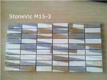 Cinderella Grey,Cream Marfil,Golden Spider Marble Multicolor Marble Mosaic Tiles