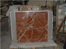 Red Marble Shower Base/Shower Tray