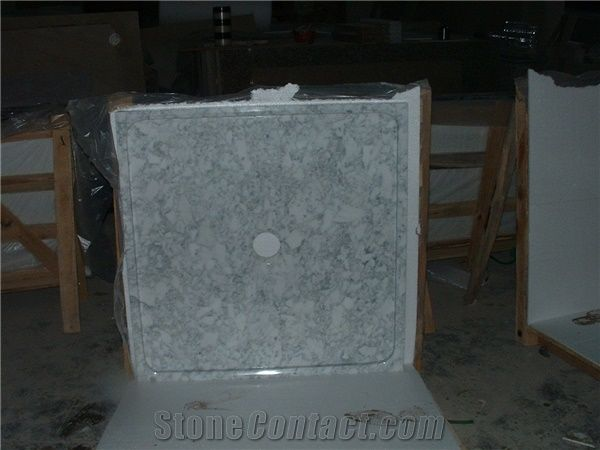 White Carrara Marble Shower Base Shower Tray From China
