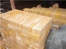 China Wooden Sandstone Paver Slabs & Tiles, China Beige Sandstone