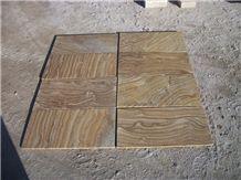 Teakwood Yellow Sandstone Slabs & Tiles, China Yellow Sandstone