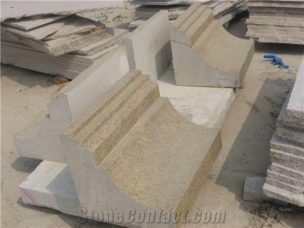 Yellow Granite Curb,Curved Curb, G350 Yellow Granite Curbs