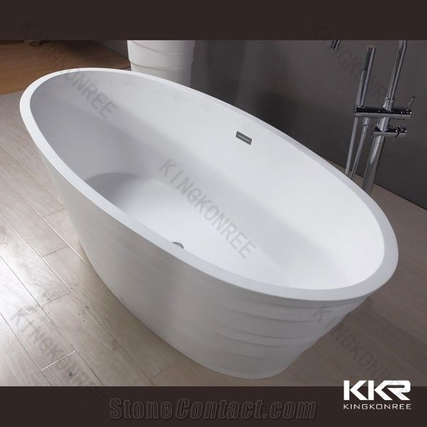 Timeless Style Stone Bathtub Resin Freestanding Tub Solid Surface Bathtubs