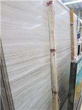 White Wood Slab Marble Slabs & Tiles