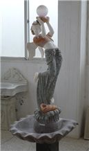Jade White Marble Statues
