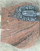 Multicolor Red Granite Monument & Tombstone